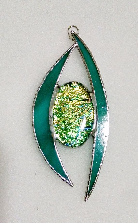 Stained Glass Ornament Fused Glass Pendant by StainedGlassYourWay