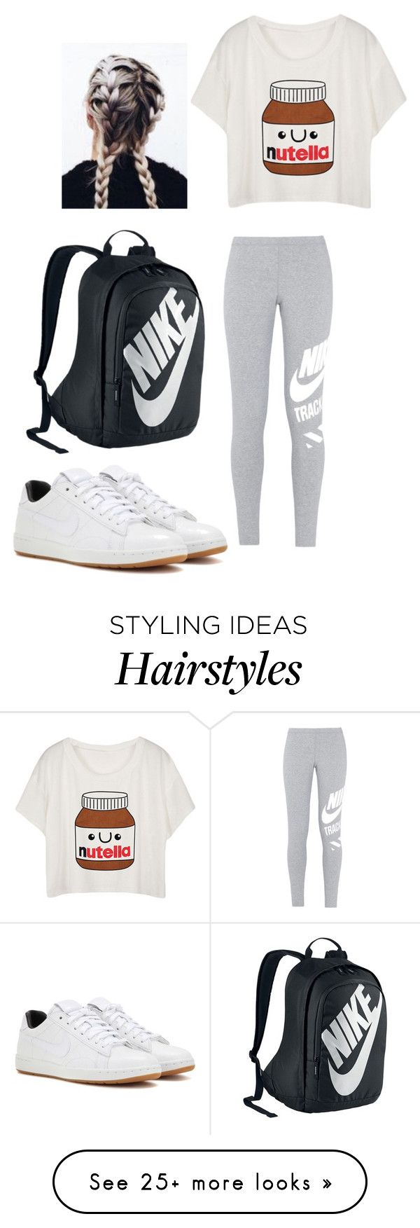 """OOTD #28"" by janelingodfrey on Polyvore featuring NIKE, ootd, nike and spring2016"