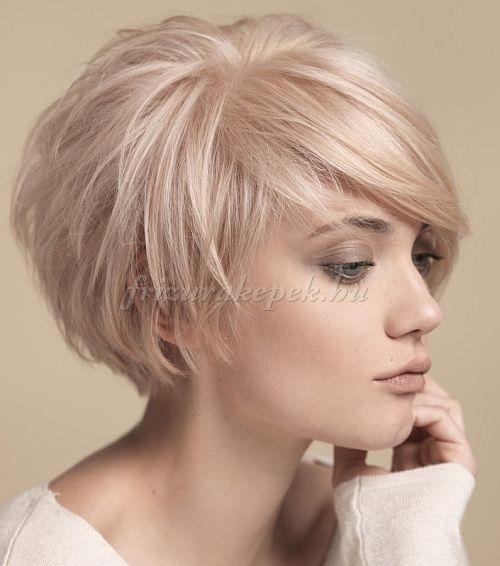 rövid frizurák, rövid frizurák hosszú frufruval - aszimmetrikus rövid frizura