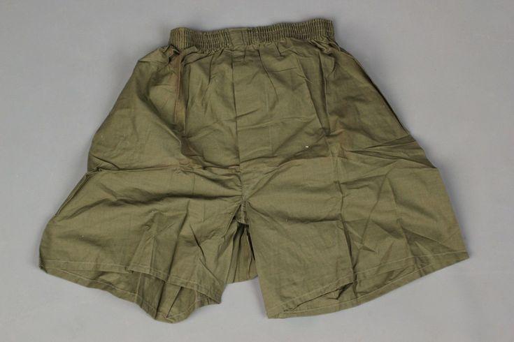 Vtg. U.S. Army Post Vietnam War Women's Size 26 Green Boxers #627 1976 Drawers   eBay