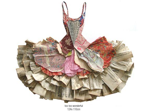 Vestido de papel. Peter clark