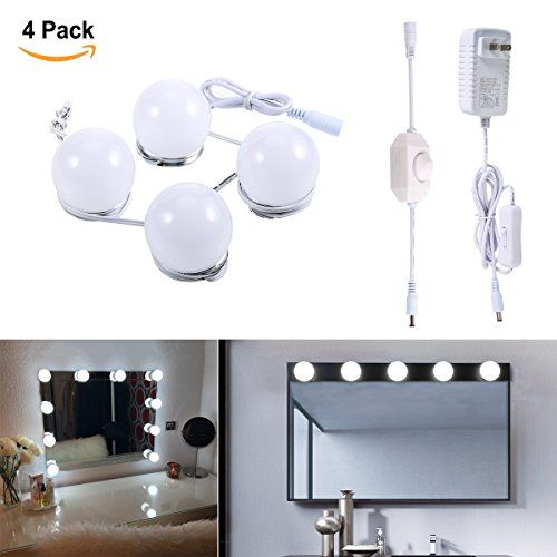 Greenclick Fashion Style Lighted Makeup Vanity Mirror Led Light Kit