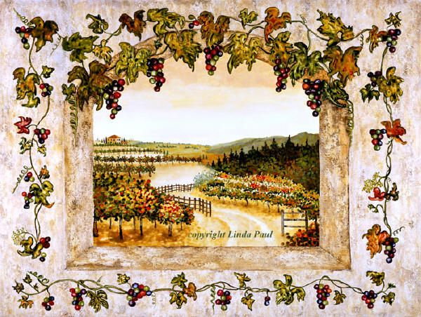 wine and grape decor art on canvas and tiles of grapevines purple grapes and autumn vineyard with turning leaves this art is perfect for grape kitchen