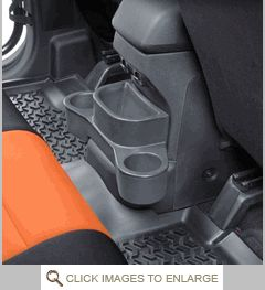 Trash Can w/Cup Holders - Jeep Wrangler JK & Unlimited 2011-2015