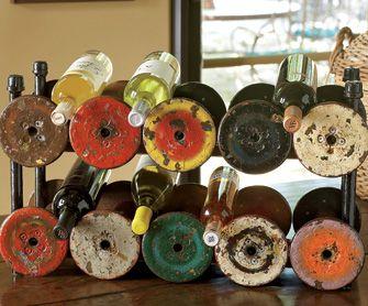 Vintage Spool Wine Racks - Reclaimed & Repurposed Home Accessories - Home & Garden - NapaStyle