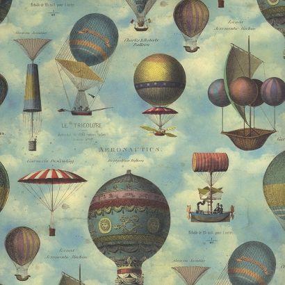 Vintage Hot Air Balloons Italian Paper ~ Kartos Italy