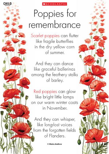 Remembrance Day | Remembrance Day poem to use as a discussion starter and to explore ...