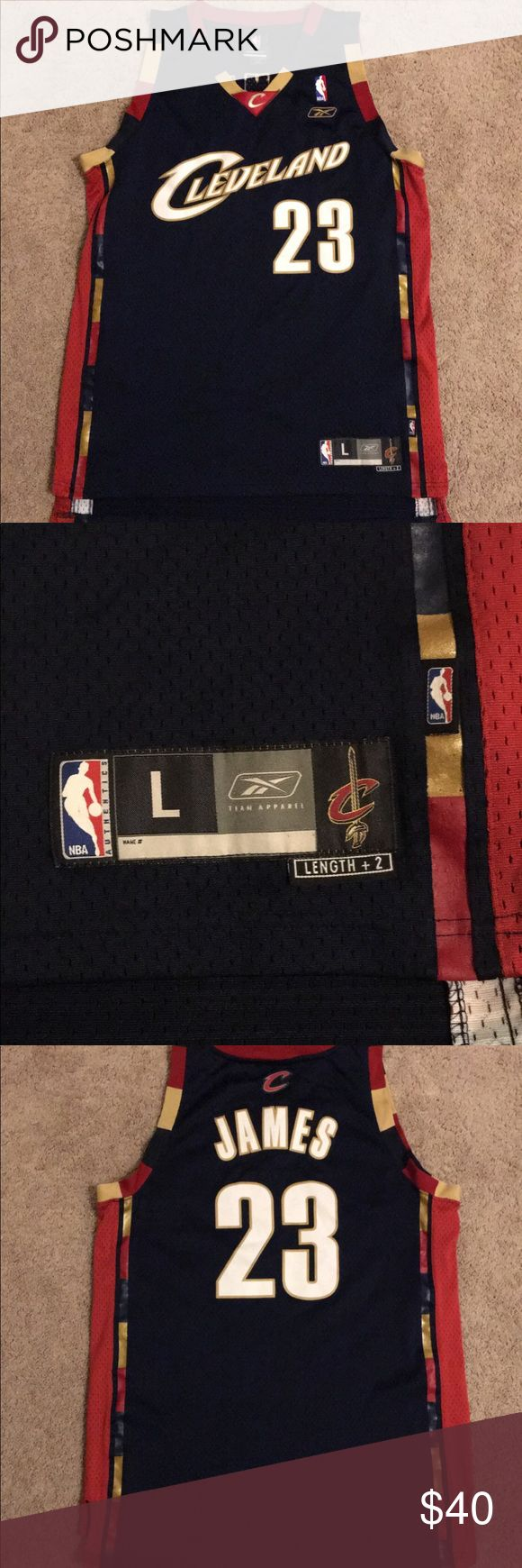Cleveland Cavaliers Lebron James Jersey Good overall condition   smoke free household and no pets   will ship ASAP Reebok Shirts Tank Tops