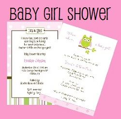 Shop Baby Girl Shower Invitations We Make It Easy With Great Samples Of  Creative Wording  Baby Shower Samples