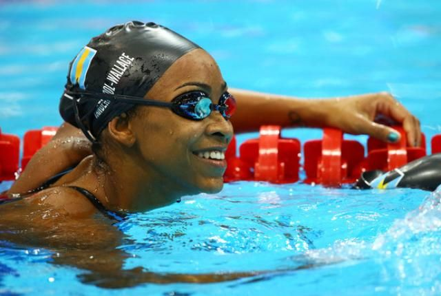 Bahamian Olympic Swimmer Arianna Vanderpool-Wallace. Beijing 2008.