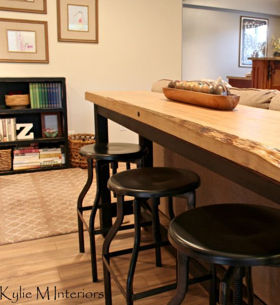 Our Family Room Livin On The Edge Industrial StoolBar TablesDining