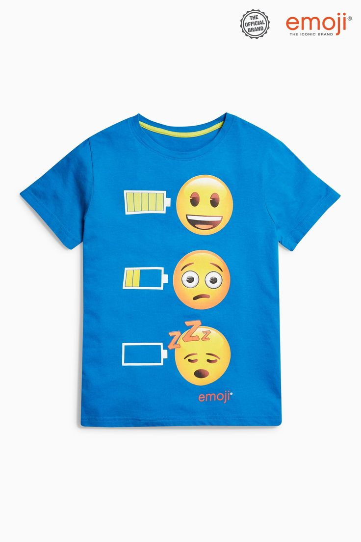 Buy Blue Emoji Pyjamas Two Pack (3-14yrs) from the Next UK online shop