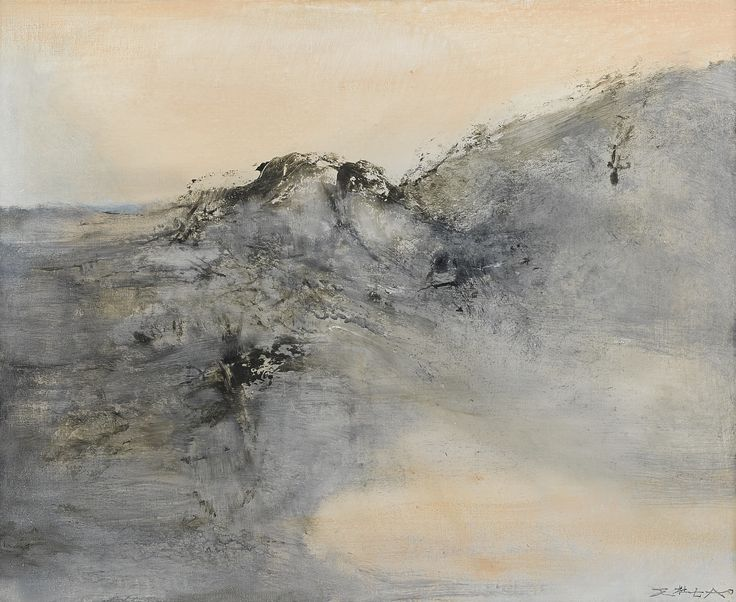 ZAO WOU-KI 1921 - 2013, 26.12.2001, This work is accompanied by a certificate of authenticity issued by Foundation Zao Wou-ki. signed in Pinyin and Chinese; signed and titled on the reverse. Executed in 2001. oil on canvas 59.8 x 73 cm
