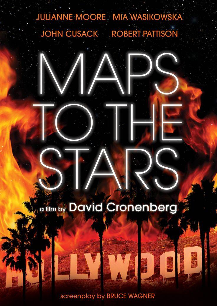 Mapas para as Estrelas (Maps to the Stars - 2014) Dir: David Cronenberg. Julliane Moore é a atriz decadente em busca de um papel. Evan Bird, um arrogante ator mirim (lembra Macaulay Culkin). John Cusak é seu pai e guru dos artistas. Robert Pattinson é o motorista que quer virar ator. Mia Wasikowska é a menina que chega para pôr fogo na história. E Carrie Fischer, a Leia de Star Wars, é ela mesma, 36 anos mais velha. Um bom filme de Cronenberg sobre o lado mais sórdido das estrelas de…