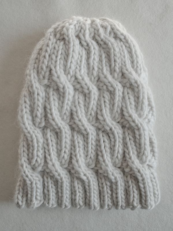 Faye's Super Soft Merino Chunky Cable Hat. A great beginner project.