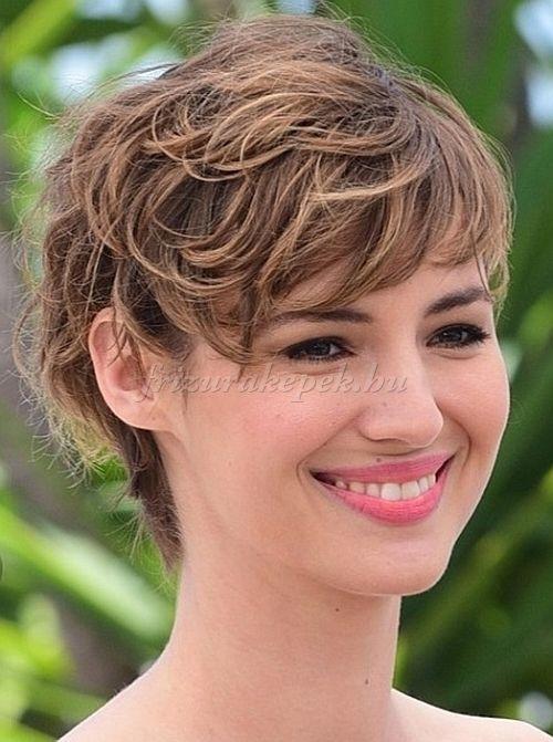 pixie frizurák, rövid frizurák - kócos rövid frizura