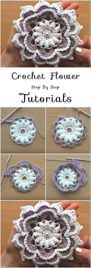 Crochet Flowers Tutorial