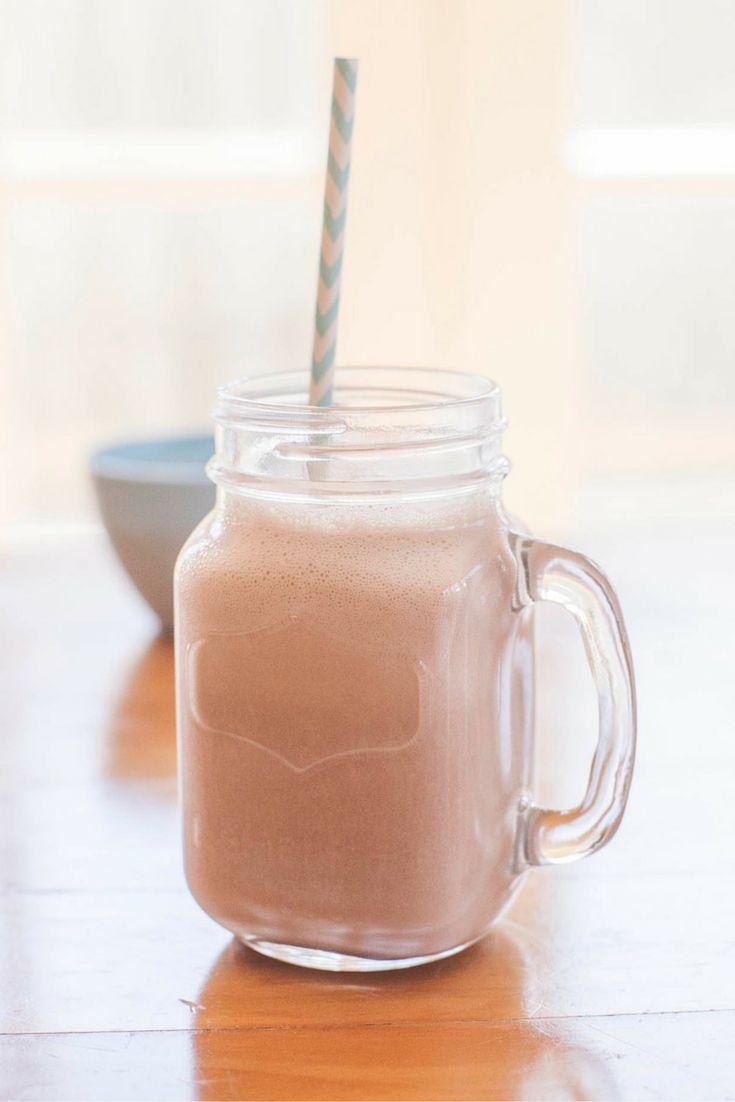 Louis' Chocolate Milkshake. Per Serve: 424kJ, 101 Calories, 1.0 carb exchange. #Vegetarian #Type1Diabetes #Recipe