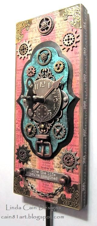 FRIENDS in ART: Never Too Much Metal - IMHO - includes tutorial. Steam Punk.