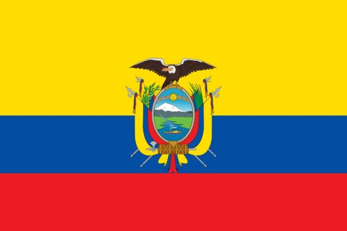 Flag of Ecuador :   This is the national flag of Ecuador, a country in South America. Want to learn more? Check out these Ecuador maps.