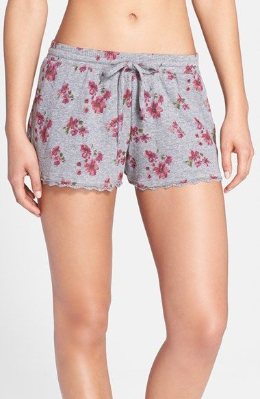 Women's Nordstrom 'Lazy Mornings' Lace Hem Shorts