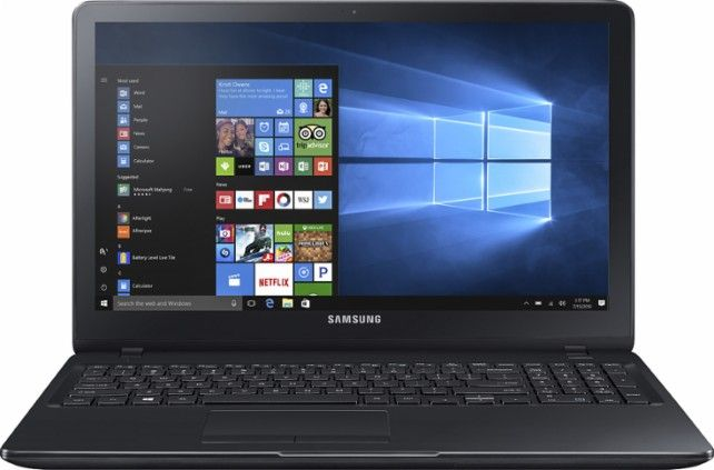 "$599 Samsung - Notebook 5 15.6"" Touch-Screen Laptop - Intel Core i5 - 8GB Memory - NVIDIA GeForce 920MX - 1TB Hard Drive - Solid black - Front Zoom"