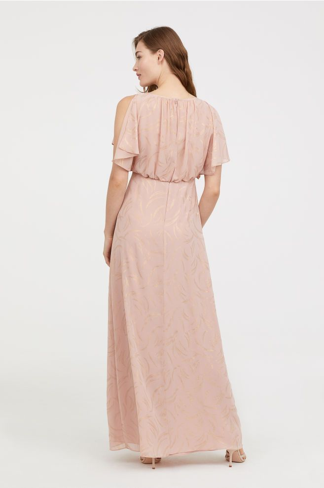f586c28da918 Lang kjole - Pudderrosa - DAME