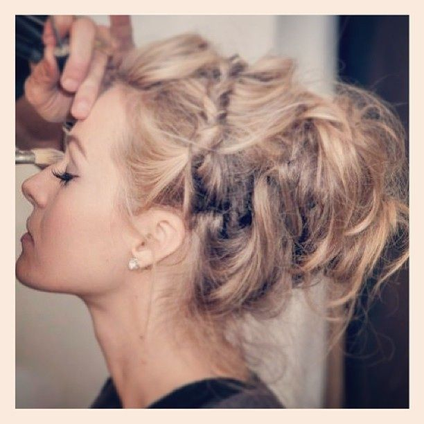 Beautiful messy bun / braided updo