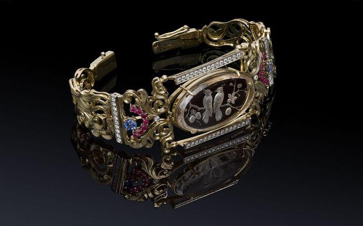 Ювелирный постер Jewelry Photography. Ювелирные украшения с драгоценными камнями. Инталия. Jewellery Diamonds