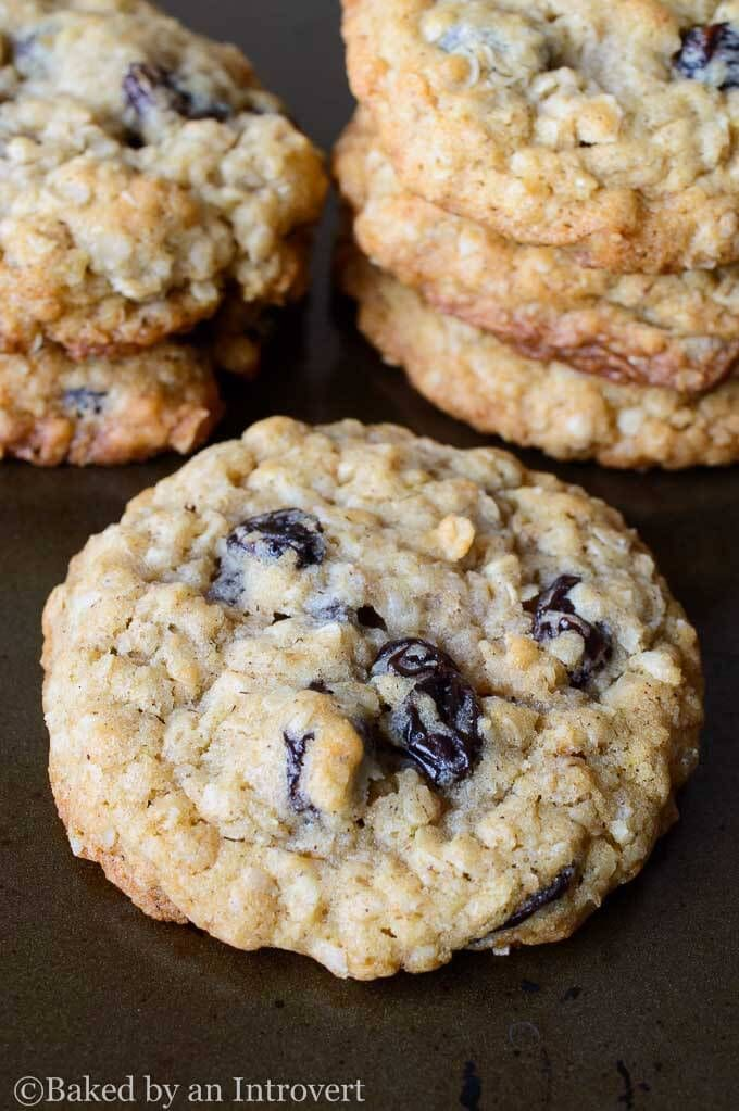 Best Oatmeal Raisin Cookies - Super simple, soft baked oatmeal cookies loaded with raisins. These cookies are ready in less than 20 minutes!