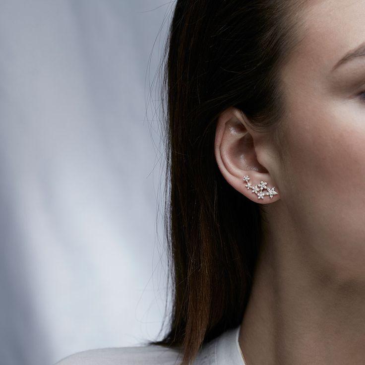 6 Diamond Sisters White Rhodium Earrings