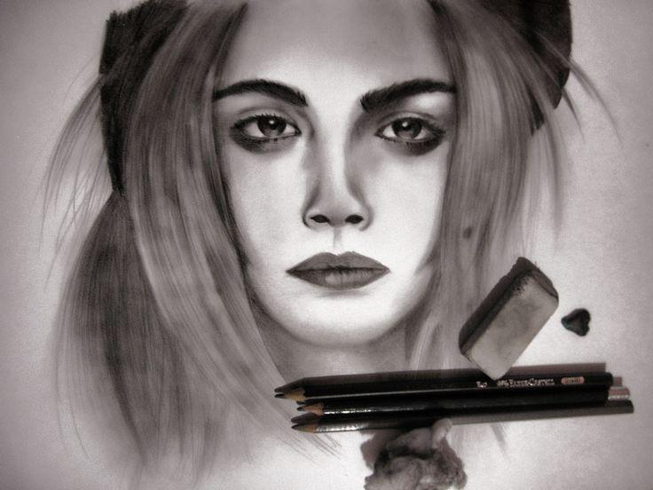 Ms de 25 ideas increbles sobre Cara delevingne dibujo en