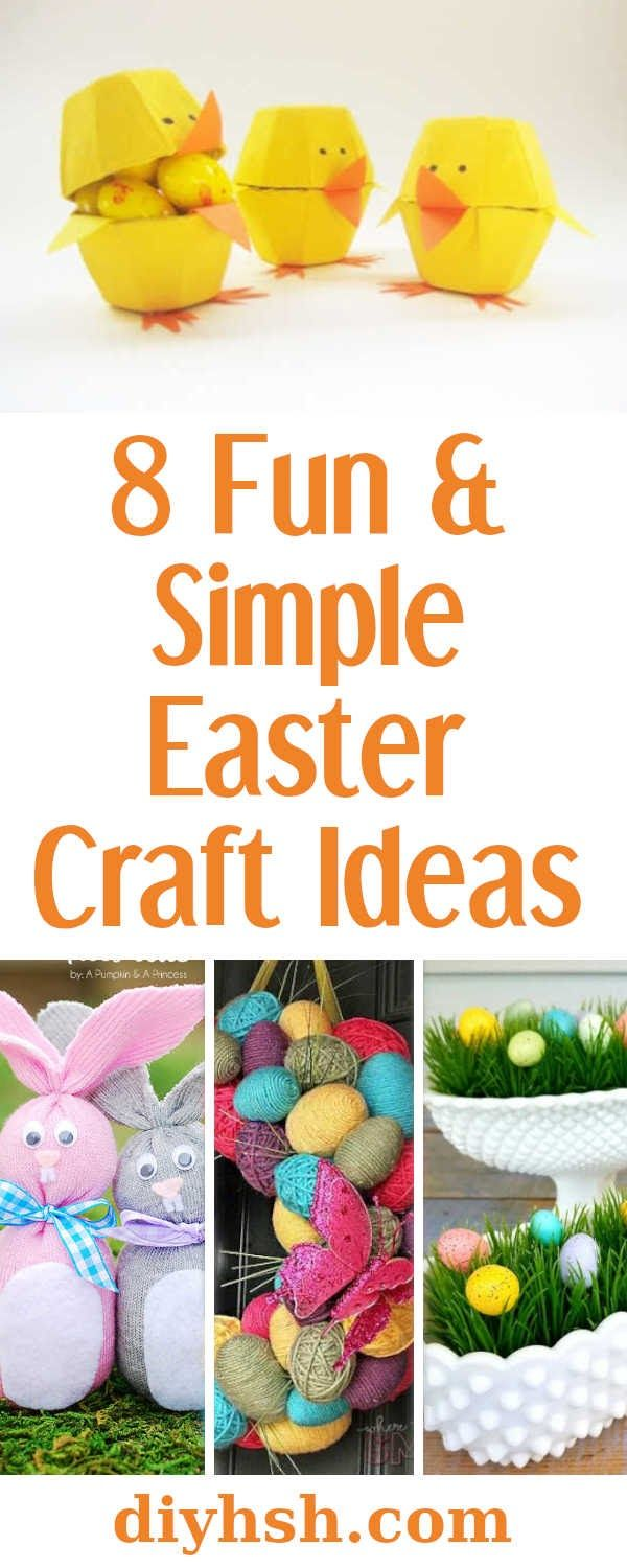 8 Fun Simple Easter Crafts Diy Holiday Ideas Easy Easter