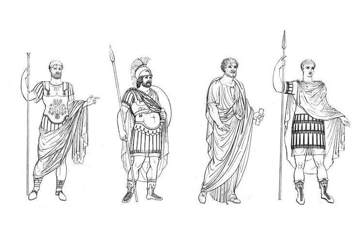 Maak kennis met de kledingstijl van de Romeinen. Deze kleurplaat kan vergeleken…