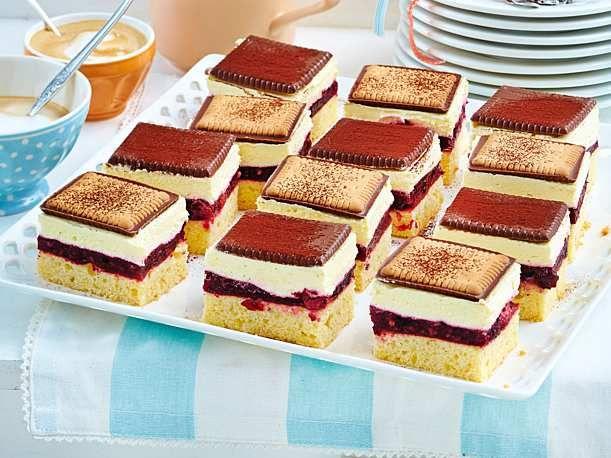 Schachbrett Butterkeks Kuchen Mit Roter Grutze Rezept Lecker Rezept Butterkeks Kuchen Ohne Backen Blechkuchen Mit Obst Kuchen Und Torten Rezepte