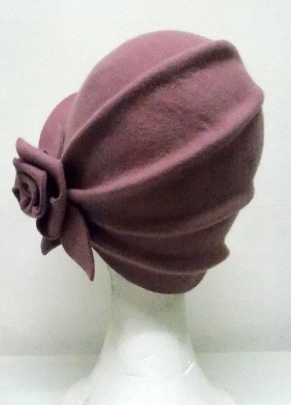 Cloché hat 20s hat 20s style hat Felt hat Wool by LidiaArtThings