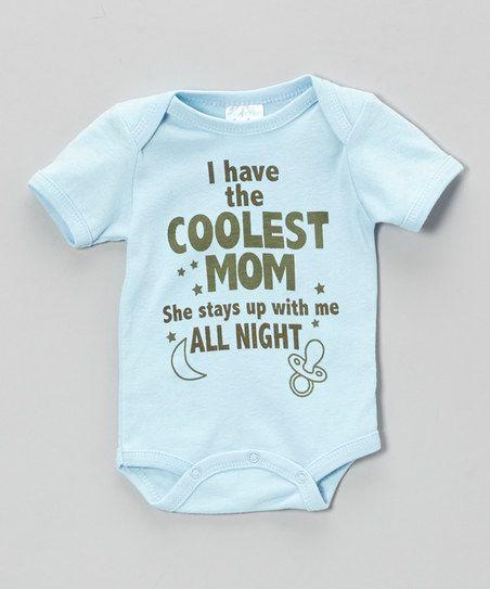Blue 'Coolest Mom' Bodysuit I should have this for Carter...