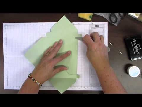 """Making A Box With The Envelope Punch Board. excellent tutorial and explains how to make ANY SIZE BOX (Diane Dimich)  9-1/4 x 9-1/4"""" w/ 3-5/8"""" & 4-3/4"""" score lines makes 5-7/8 x 4-5/8 x 3/4"""" box (to better fit the height of some envelopes)."""