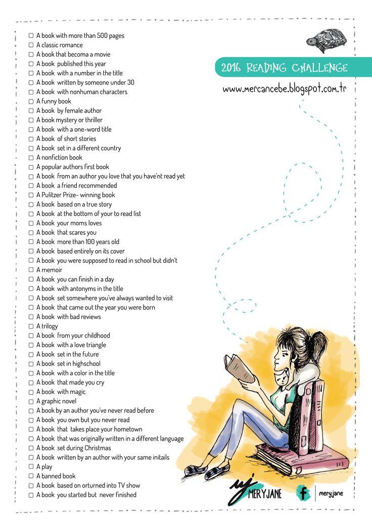 2016 Reading challenge list - English
