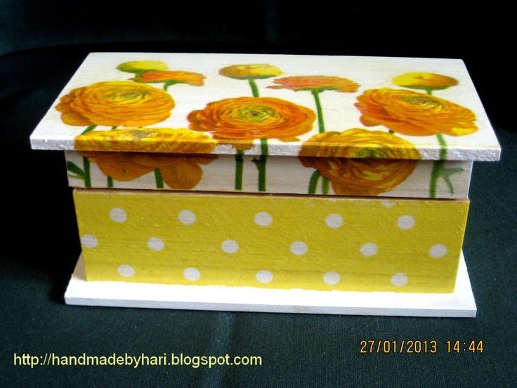 Handmade by Hari: Decoupage box
