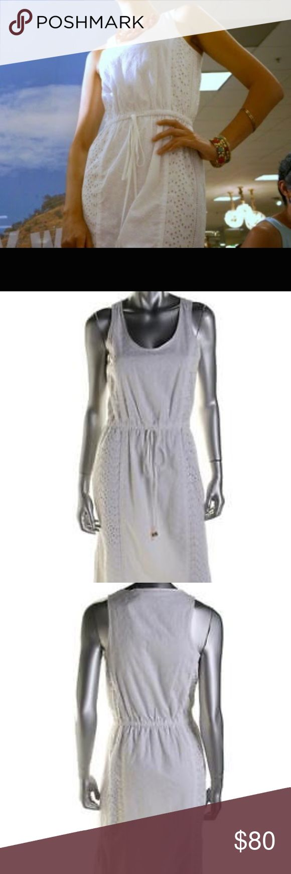 Michael Kors American Icon white dress Beautiful dress, perfect for the summer. NWT. Size Small. I'm 5'6 134 lbs. fits me perfectly with some room. It's the  perfect length to be worn with flats or heels. Has 2 slits on each side, moderate opening. Make me an offer. MICHAEL Michael Kors Dresses