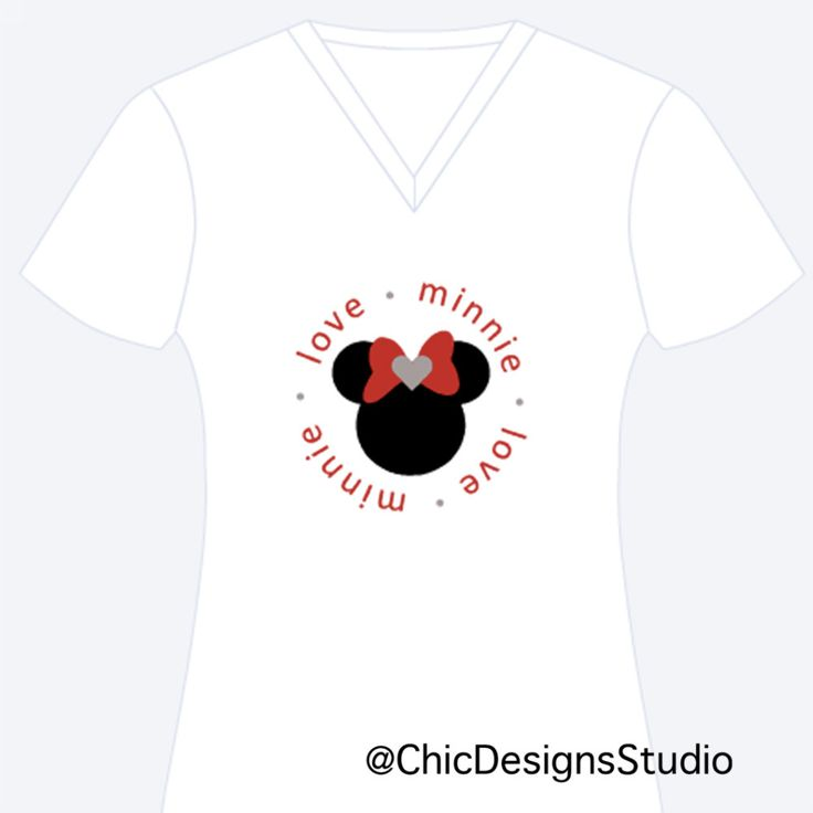Love Minnie Personalized Shirt, Minnie Shirt, Custom Apparel, Personalized Shirt by ChicDesignsStudio on Etsy