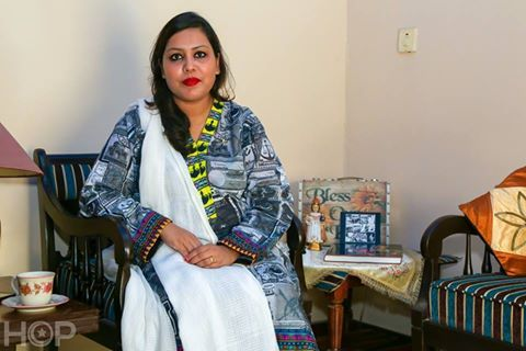 """""""My parents have always taught us that we are Pakistani first and Christians later. My father is a war veteran and so have been my uncles. My father was the only christian officer in the military session court at time of Zia-ul-Haq. I feel proud of the fact that throughout my life, I studied and built my journalism career in Pakistan"""