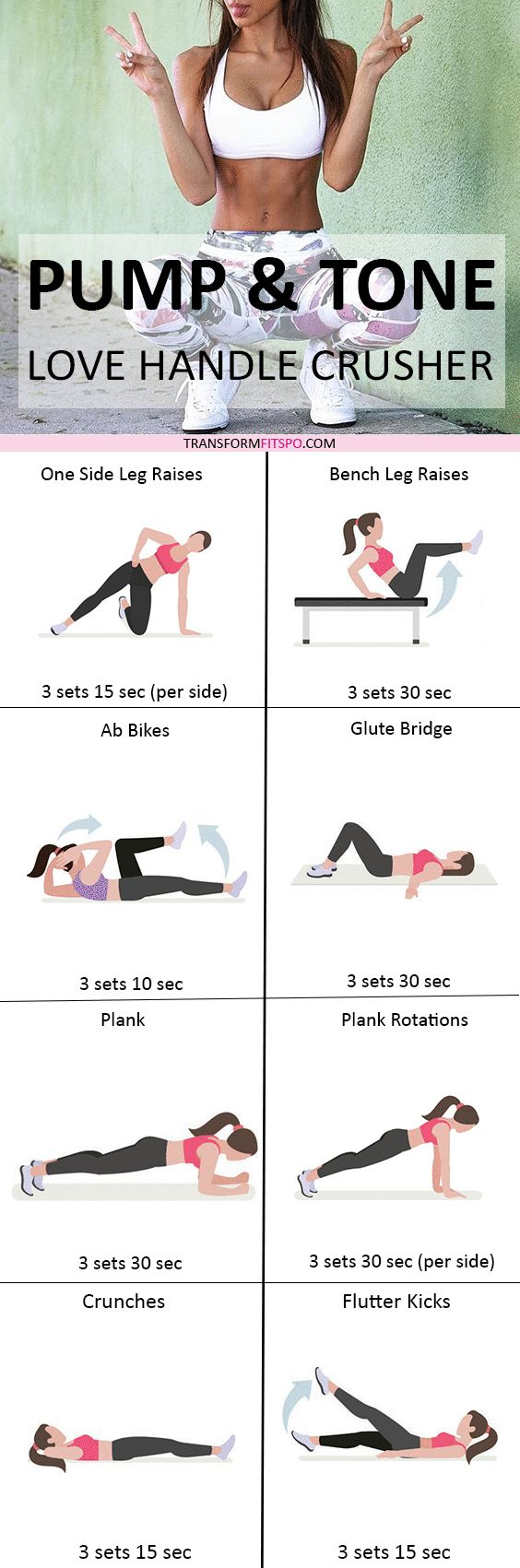 Did this workout destroy your love handles? Repin if so! Read the post for all the workout information!