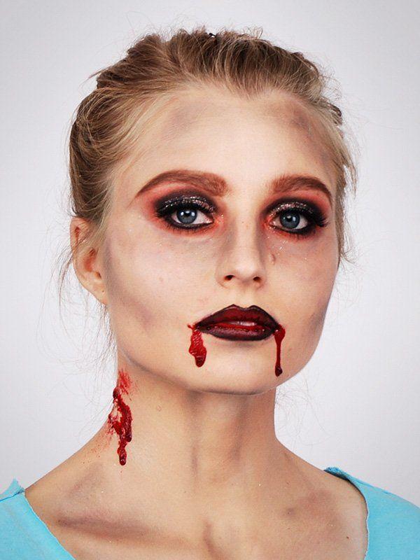 Vampir schminken: Biss