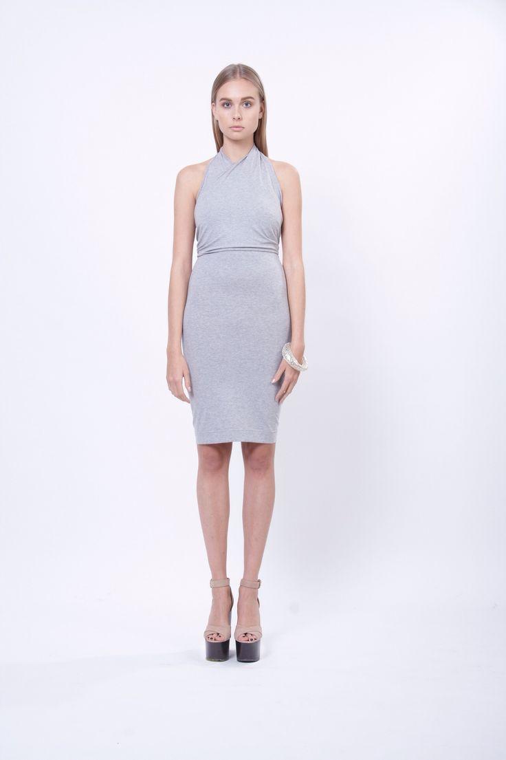 wrap jersey dress, design Lucie Kutálková, LEEDA store