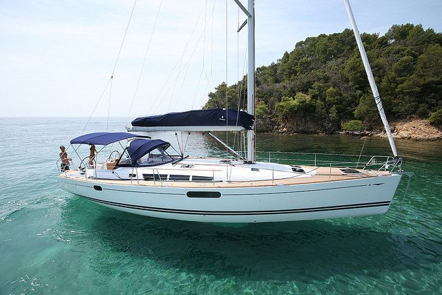 Jeanneau Sun Odyssey 49i Sailing | Seatech Marine Products / Daily Watermakers