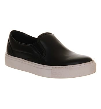 'Vans slip on' style leather shoes. Comfy and appropriate for dental/ medical work? Office, £30 on sale