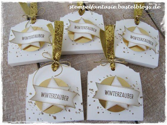 Stampin Up_Christmas_xmas_2015_Gastgeschenk_Verpackung_Weihnachten_Ritter Sport Mini Gold_Winter_Stempelfantasie