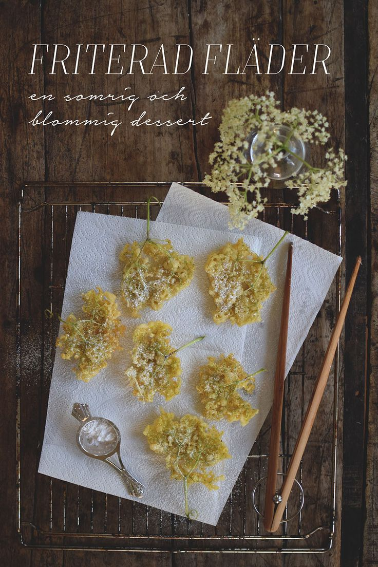 Fried elderflower, elderflower fritters, Friterade fläderblommor @helenalyth